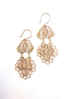 Chandelier Earrings in Rose Gold Plate