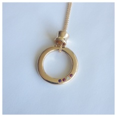14 yellow gold pendant with birthstones